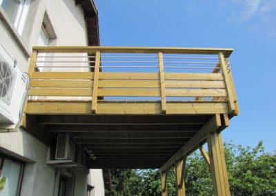 Terrasse bois sur pilotis en Meurthe-en-Moselle