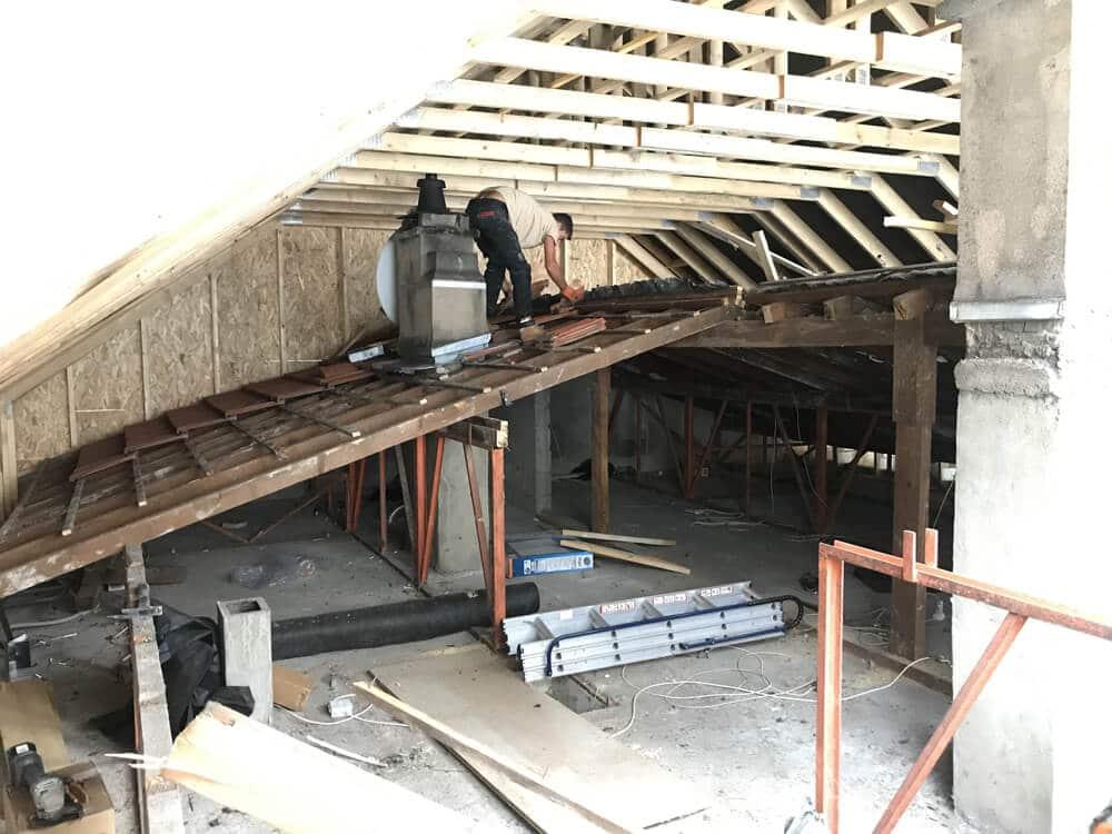 Nancy 54 - Agrandissement maison par surélévation de toiture OSB